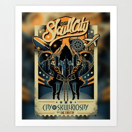 Skullriosity Art Print