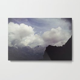 clouds over mountains Metal Print