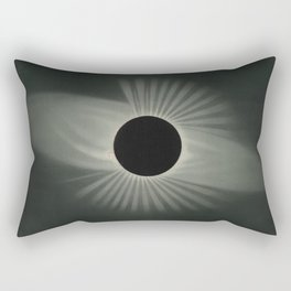 The Trouvelot Astronomical Drawings (1881) - A Total Eclipse of the Sun, 1878 Rectangular Pillow