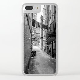 Laundry Line Clear iPhone Case