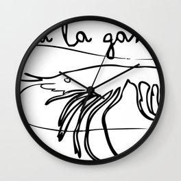 Chupa la Gamba Wall Clock