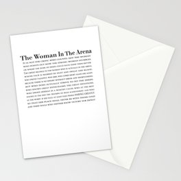 The Woman In The Arena Quote, Daring Greatly Speech Stationery Cards