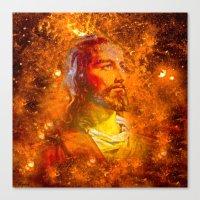 jesus Canvas Prints featuring Jesus by Saundra Myles