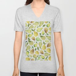 Watercolour Pears Unisex V-Neck