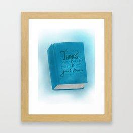 Intuition. Framed Art Print