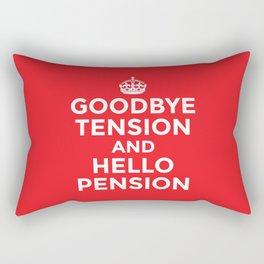 GOODBYE TENSION HELLO PENSION (Red) Rectangular Pillow
