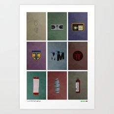 Fringe (colors) Art Print