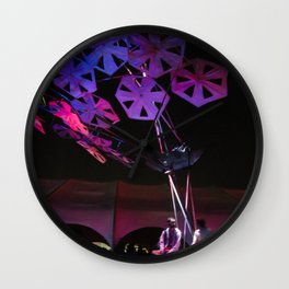 purple paper ponder Wall Clock