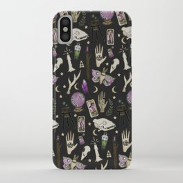 WITCH pattern • in black salt iPhone Case