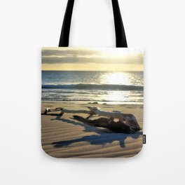 Sunset Driftwood Tote Bag