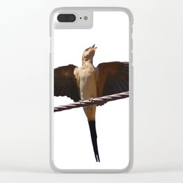 Swallow Song Vector Clear iPhone Case