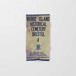 Historical Cemetery Bristol, RI Hand & Bath Towel