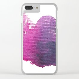 BRIGHT SKIES - Pink Abstract Painting, Acrylic Clear iPhone Case