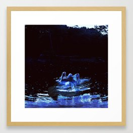 to be one with the river. Framed Art Print
