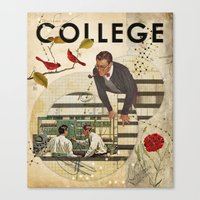 college Canvas Prints featuring Welcome to... College by Heather Landis