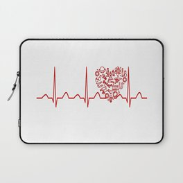 Physics Teacher Heartbeat Laptop Sleeve
