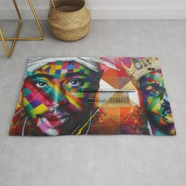 African American 26th Street Miami, Florida Mural 'Legends of Hip Hop' Rug