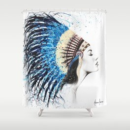 Her Feathers Shower Curtain