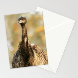 Australian Emu out in nature. Stationery Cards