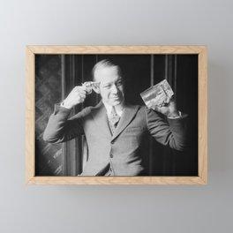 Death or Alcohol - Ernie Hare - Prohibition Photo Framed Mini Art Print