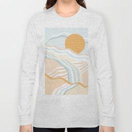 Retro Rainbow Summer Waves Long Sleeve T-shirt