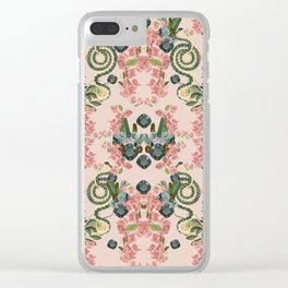 Where lizards live-Pink Clear iPhone Case