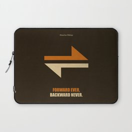 Lab No. 4 -Forward Ever, Backward Never Corporate Start-Up Quotes Poster Laptop Sleeve