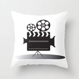 Video Camera Throw Pillow