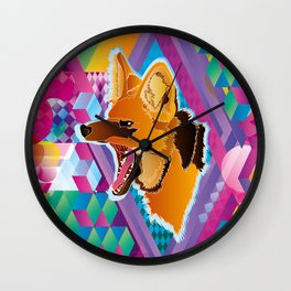 Lobo-guará (Maned wolf) Wall Clock