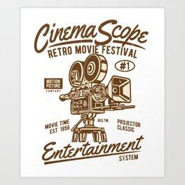 Cinema Scope - Retro Movie Fistival Art Print
