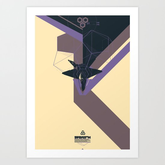STEALTH:YF-23 Blackwidow II Art Print