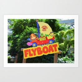Wonderpets Flyboat Art Print