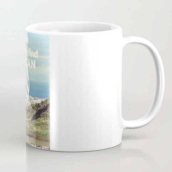 Adventure Quote, hot air balloon Coffee Mug
