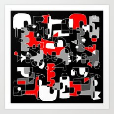 UNSOLVED PUZZLE Art Print