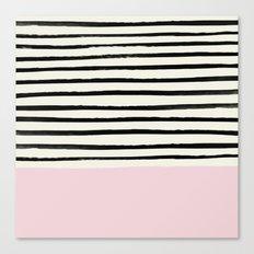 Bubblegum x Stripes Canvas Print