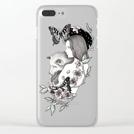 Wild Cherry Clear iPhone Case