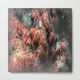 Pattern Wall by Nico Bielow Metal Print
