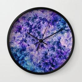 Hibiscus Flower Pattern Wall Clock