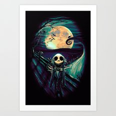 The Scream Before Christmas Art Print