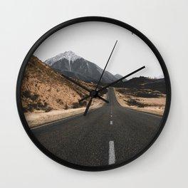 ROAD - BIRD - HILLS Wall Clock