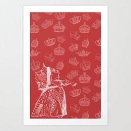 Queen of Hearts and Crowns Art Print