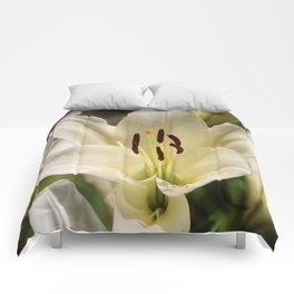 Innocent White Lily Comforters