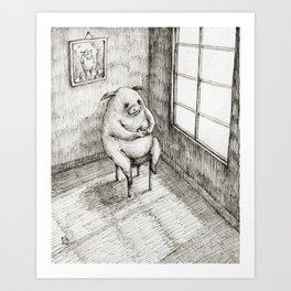 Pensive Art Print