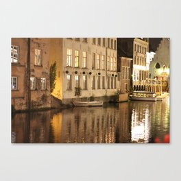 Light and Water, Gent (Ghent) Canvas Print