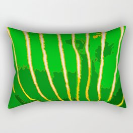 Green Bongo Stripes Rectangular Pillow