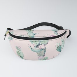 Cactus Rose Pattern on Pink Fanny Pack