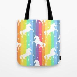 Rainbow Unicorns Tote Bag