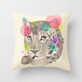 leopard changes his spots Throw Pillow