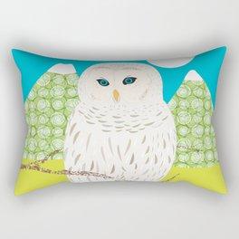 Blanche chouette Rectangular Pillow