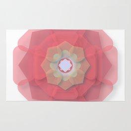 Pink Floral Meditation Rug